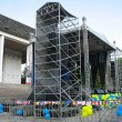 Open air concerto metallic stage — Stock Photo