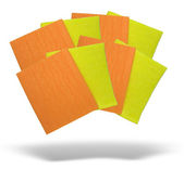 Yellow and orange napkins with shadow — Stock Photo