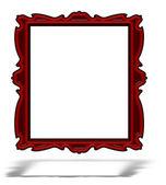 孤立的空白红色玻璃纵向框架 — 图库照片