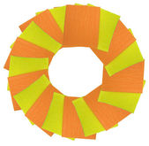 Yellow and orange napkins circle — Stock Photo