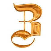 Golden pattern gothic letter Z — Stock Photo