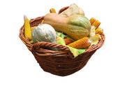 Harvest vegetables in a wooden box — Stock Photo