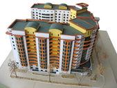 Handmade breadboard house model — Stock Photo