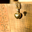 Old casket and necklace image. — Stock Photo