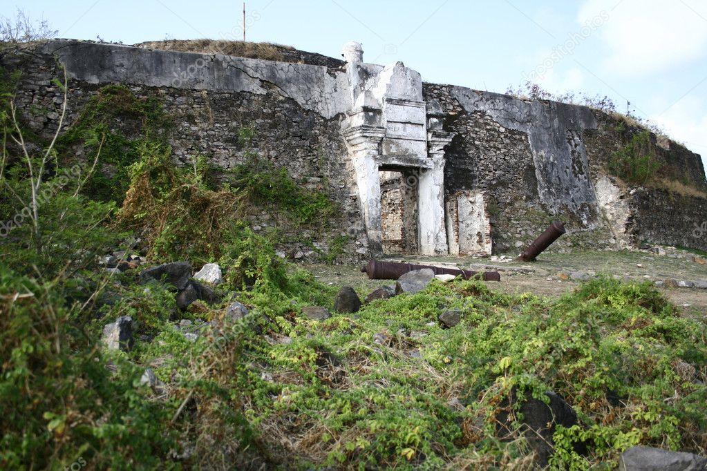 A war fort in Fernando de Noronha - Brazil — Stock Photo #2190991