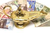 Gold Magic Lamp — Stock Photo