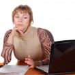 Pensive Business woman — Stock Photo