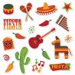 Mexican stickers - Imagens vectoriais em stock