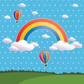 Polka dot rainbow — Stock Vector