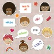 Speech bubble stickers — Stock Vector
