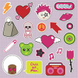 Emo stickers - Stock Vector