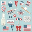 Royalty-Free Stock Vector Image: American stickers
