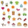 Royalty-Free Stock Vector Image: Kids stickers