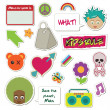 Kids stickers — Vector de stock