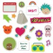 Kids stickers — Stok Vektör