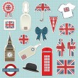 United kingdom stickers - Stock Vector