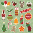 Christmas stickers — Stok Vektör