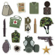 Military stickers - Stock Vector