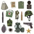 Royalty-Free Stock Immagine Vettoriale: Military stickers
