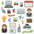 Royalty-Free Stock Vector Image: Business stickers