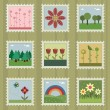 Royalty-Free Stock Vector Image: Nature stamps