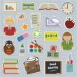 Education stickers - Stock Vector