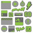 Royalty-Free Stock Vector Image: Green web elements