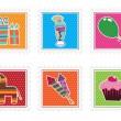 çocukları parti pullar — Stok Vektör