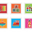 Kids toy stamps — Stok Vektör