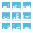 Stock Vector: Room icons