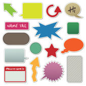 Text box stickers — Stock Vector