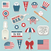 American stickers — Stock Vector