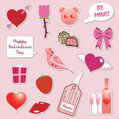 Valentine stickers — Stock Vector