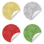 Glitter stickers — Stock Vector