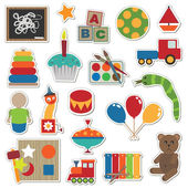 Toy stickers — Stock Vector