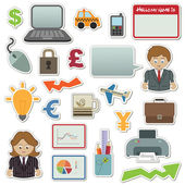 Business stickers — Stock Vector