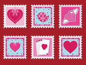 Valentine stamps — Stock Vector