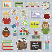 Education stickers — Stock Vector
