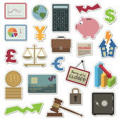 Finance stickers — Stock Vector