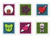 Kids emo stamps — Stockvektor