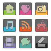 Square icons — Stock Vector