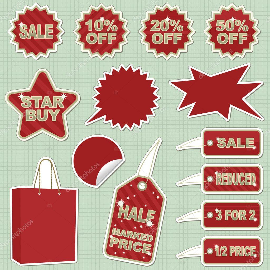 Blank Sale Sticker