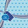 Royalty-Free Stock Vector Image: Blue birthday ribbon