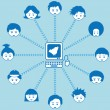 Stock vektor: Social networking