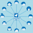 Vecteur: Social networking