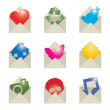 Royalty-Free Stock Vector Image: Envelope icons
