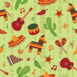 Stock Vector: Seamless mexican pattern
