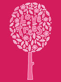 Love trees — Stock Vector