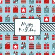 Birthday gifts wrapping — Image vectorielle
