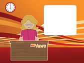 Female news reader — Stock Vector